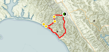 Bear Valley to Coast Camp Map