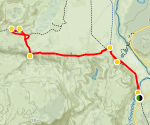Fairy Creek Trail to Imperial Geyser Map