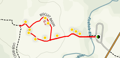 Biscuit Basin Interpretive Trail Map