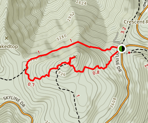Hawksbill Gap Loop Map