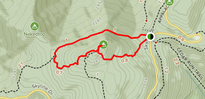 Hawksbill Gap Loop via Appalachian Trail Map