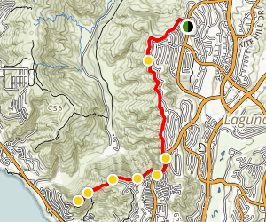 Aliso Summit Trail Map