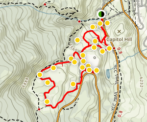 Mammoth Hot Springs Area Trail Map