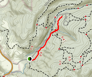 Six Bridges Trail to Ben Ries Campground Map