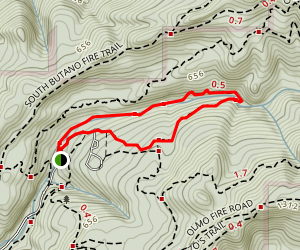 Butano Creek Trail Map