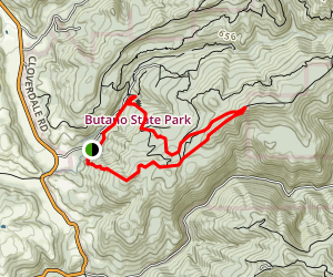 Gazos Trail Map