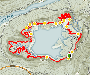 Raccoon Mountain Reservoir Loop Map
