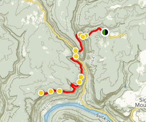 Shackleford Ridge State Park to Cumberland Trail Map