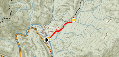 Metcalf Bottoms Trail Map