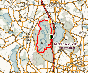 West Middlesex Fells Reservation Bike Loop Map