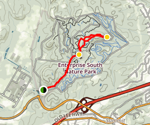 Poe Run Path to Boulder Point  Map