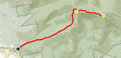 Mount Waumbek and Mount Starr King Trail Map