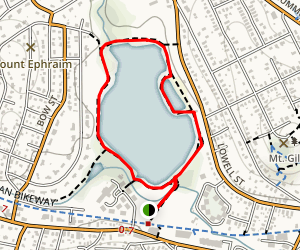 Arlington Reservoir Trail Map