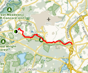 Battle Road Trail Map