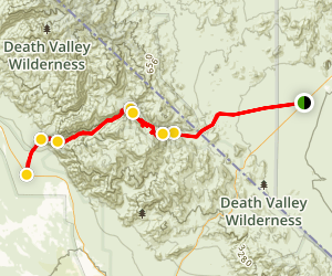 Titus Canyon Road Via 4x4 Map