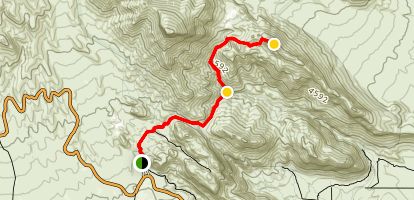 Gray Cap Peak Trail Map