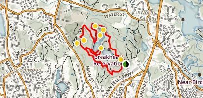 Pearce Lake and Upper Pond Trail Map