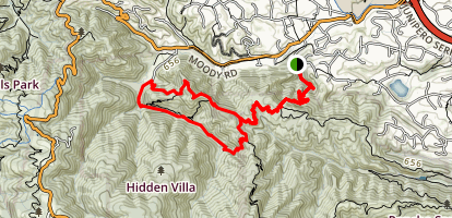 Rhus Ridge and Creek Trail Loop Map