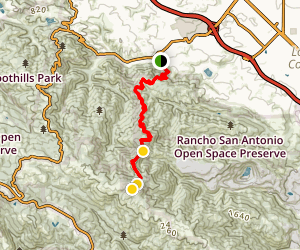 Black Mountain via Rhus Ridge Map