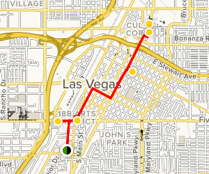 Las Vegas Arts and Culture Walk Map
