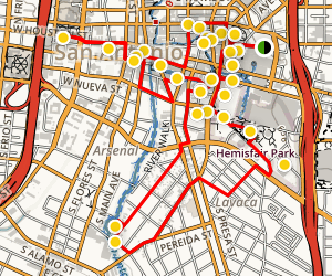 Downtown San Antonio Walking Tour Map