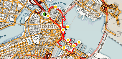 Exploring Boston's North End Map
