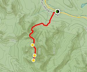 Mount Tripyramid via Pine Bend Brook Trail Map