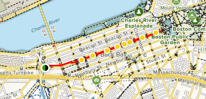Commonwealth Ave Monument Tour Map