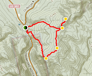 Mount Pierce, Jackson, and Webster Loop Map