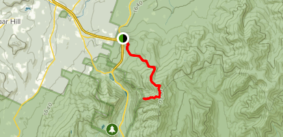 Skookumchuck Trail to Greenleaf Hut Map