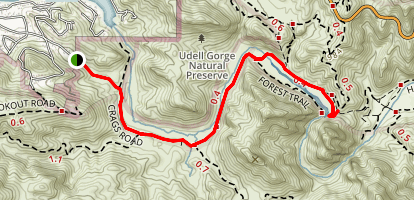 Crags Road to Century Lake Map