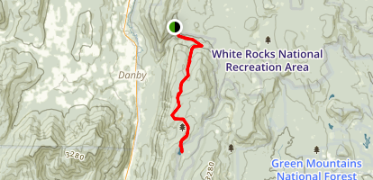 Long Trail to Griffith Lake Map