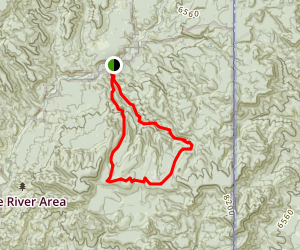 Lamphier Canyon Loop Map
