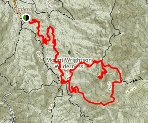 Mount Wrightson Loop Trail Map