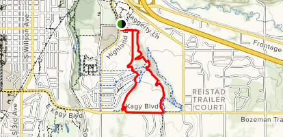 Bozeman MTB Loop Trail Map