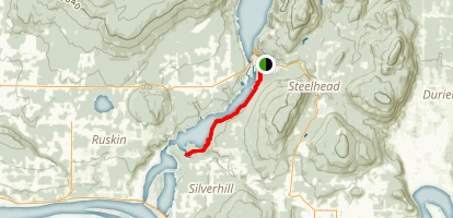 Hayward Lake Southern Trail Map