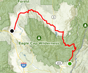 Hells Canyon Scenic Byway Map