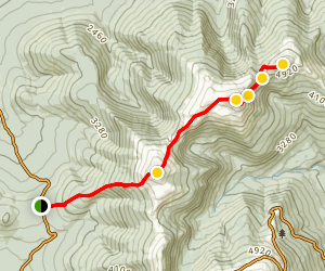 Mount Jefferson, Adams, and Madison Trail Map