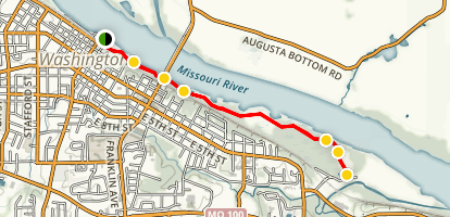Washington Missouri River Front Trail [CLOSED] Map