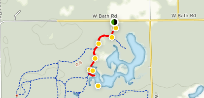 The Point at Rose Lake Wildlife Research Area  Map