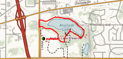 Asylum Lake Trail Map