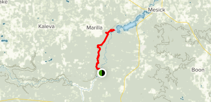 North Country Trail: Manistee River Section Map