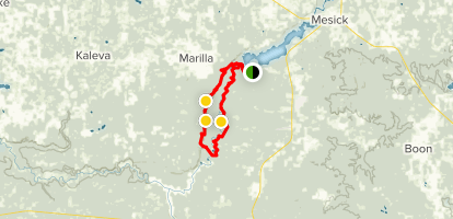 The Manistee River Loop Trail Map