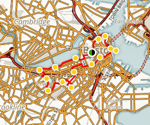 Boston City View Bike Route Map
