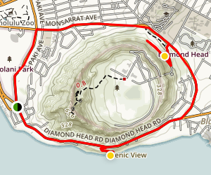 Diamond Head Crater Tour Map
