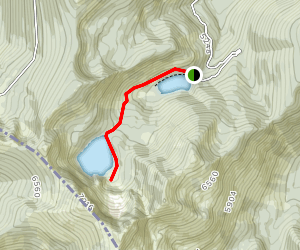 Diamond and Cliff Lakes Trail Map