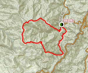 Old Butt Knob - Big East Fork Loop Map
