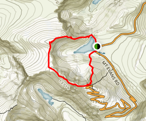 Mount Evans and Mount Spalding Loop Trail Map