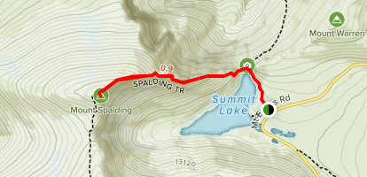 Mount Spalding Trail Map