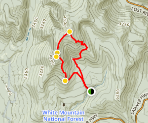 Gorge Brook Trail to Mount Moosilauke Map